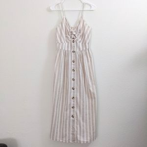 Japna Tan and White Striped Dress